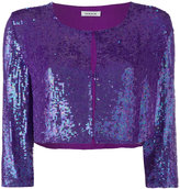 P.A.R.O.S.H. sequin fitted top - women - Viscose/PVC - S