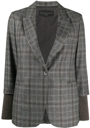 Fabiana Filippi Knit Panel Blazer