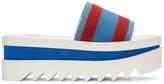 Stella McCartney Red & Blue Striped Flatform Sandals