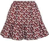 Philosophy di Lorenzo Serafini Ruffle-Trimmed Jacquard Mini Skirt