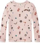 Scotch & Soda R'Belle Girl's Cold Dye Artwork T-Shirt