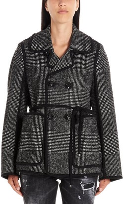 DSQUARED2 Tie Waist Double Breasted Jacket