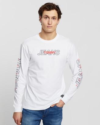 Tommy Jeans Long Sleeve Overlap Logo Tee