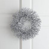 Crate & Barrel Silver Glitter Wreath