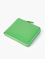 Comme Des Garcons Wallet Green Classic Leather Zip Wallet