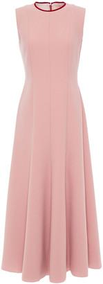 Roksanda Flared Two-tone Cady Midi Dress