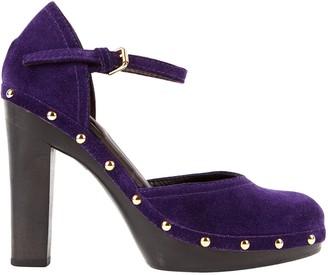 Ralph Lauren \N Purple Suede Heels