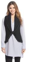 Women's Love Token Knit Vest With Genuine Rabbit Fur Trim