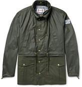 Moncler Gamme Bleu Waxed-cotton Hooded Parka - Dark green