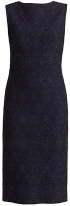 Alaia Sleeveless Metallic Knit Midi Dress