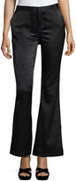 Romeo & Juliet Couture Snake-Embossed Faux-Leather Pants, Black