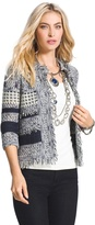 Chico's Fringe Detail Textured Cardigan