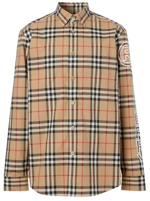 Burberry Long-Sleeve Vintage Check Shirt