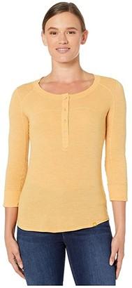 Marmot Kerr 3/4 Sleeve Shirt (Yellow Gold) Women's Clothing