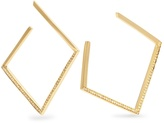 AZLEE White Light diamond & yellow-gold earrings