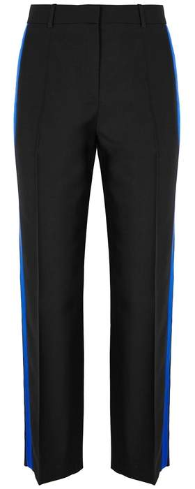 Givenchy Black Mohair And Wool-blend Tuxedo Trousers