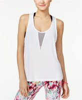 Material Girl Active Juniors' Mesh Racerback Tank Top, Only at Macy's