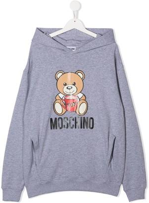 MOSCHINO BAMBINO TEEN Teddy Bear logo hoodie