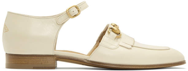 Gucci Ivory Harbor Dress Loafers