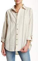 Current/Elliott The Prep School Striped Linen Blend Shirt