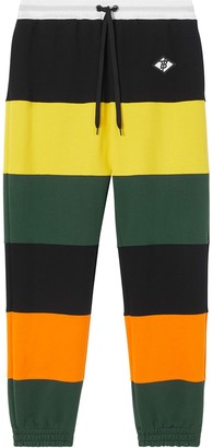 Burberry Colour-Block Striped Track Pants