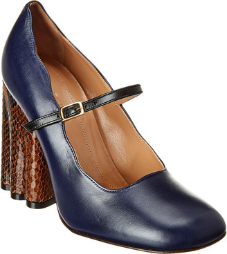 Marni Mary Jane Leather Pump