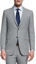Ermenegildo Zegna Torino Peak-Lapel High-Performance Wool Suit, Light Gray