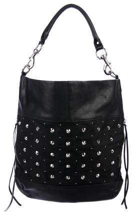 Rebecca Minkoff Leather-Trimmed Studded Tote