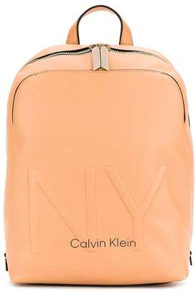 Calvin Klein NY embossed backpack