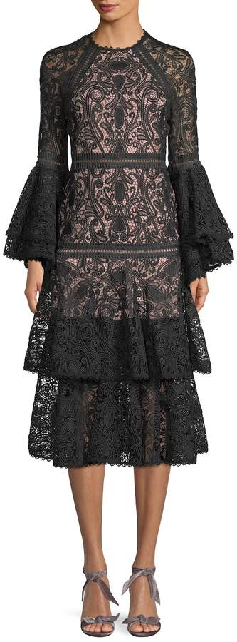 Alexis Women's Ruffle Embroidery Dress