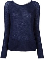 Sun 68 back buttoned fine knit jumper