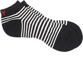 Yohji Yamamoto Men's Striped Cotton-Blend Ankle Socks