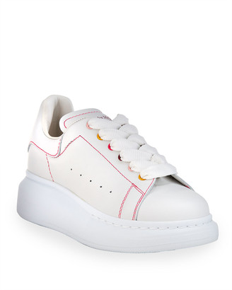 Alexander McQueen Girl's Leather Rainbow Lace-Up Chunky Sneakers, Toddler/Kids
