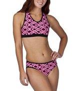 C9 by Champion® Women's 2 pc. Bikini Swimsuit - Ebony/Pink