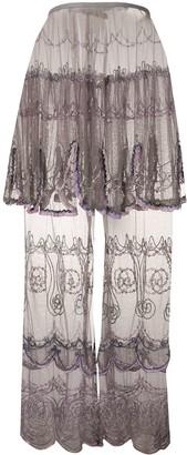 Jean Paul Gaultier Pre Owned 1990s Beaded Sheer Maxi Skirt