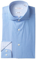 Isaac Mizrahi Multi Stripe Slim Fit Dress Shirt