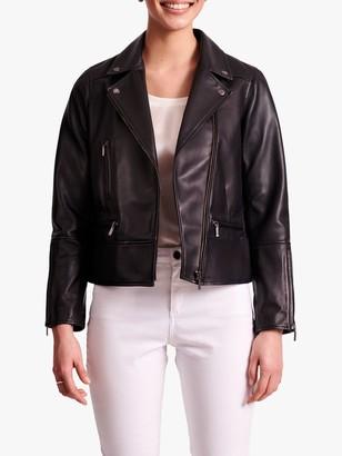 Gerard Darel Giulia Leather Jacket, Black