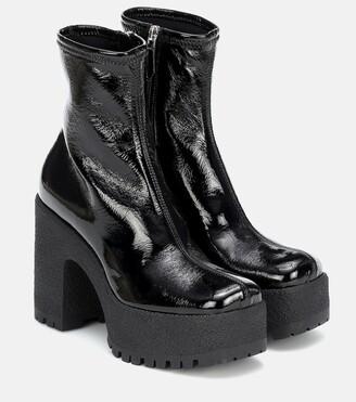 Miu Miu Faux-leather platform ankle boots