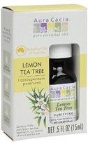 Aura Cacia Tea Tree Essential Oil, Lemon, 0.5 Fluid Ounce by
