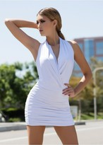 Savee Couture DR4071SQL Clear Danger In White/White Sequin