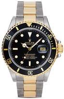 Pre-Owned Rolex Stainless Steel and 18K Yellow Gold Two Tone Submariner Watch with Black Dial, 40mm