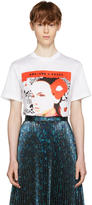 Prada White Oma Edition desert Rose Poster T-shirt