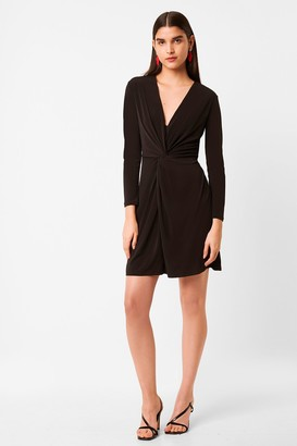 French Connection Skye Slinky Twist Front Jersey Dress