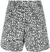 Alexander McQueen leopard print swim shorts