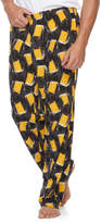 Men's Patterned Microfleece Lounge Pants
