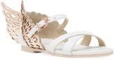 Sophia Webster Evangeline Metallic Butterfly-Wing Leather Sandals, Toddler/Kids