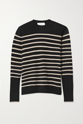 La Ligne Aaa Lean Lines Striped Cashmere Sweater - Black