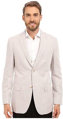 Perry Ellis Linen Suit Jacket (Natural Linen) Men's Coat