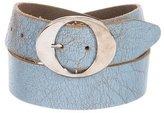 Dolce & Gabbana Textured Leather Buckle Belt