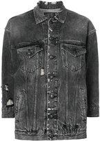 R 13 distressed denim jacket - women - Cotton - M